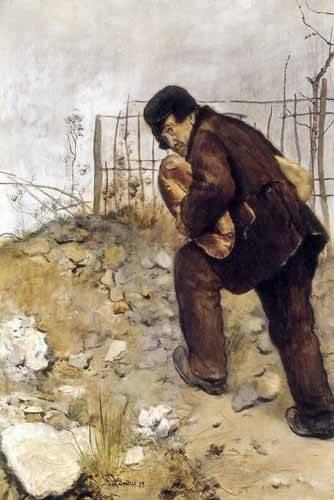 portraetgemaelde - L'homme aux deux pains - Raffaelli, Jean Francois