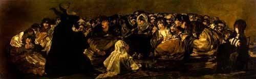 portraetgemaelde - El Aquelarre: El Gran cabrón - Goya y Lucientes, Francisco de