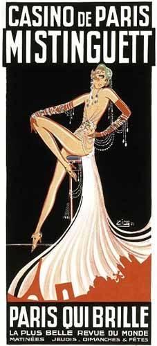 alte-karten-und-zeichnungen - Cartel: Mistinguett en el Casino de Paris - _Anonym Frankreich