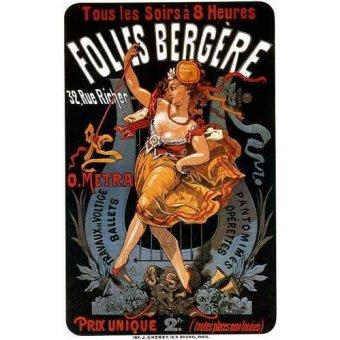 Alte Karten und Zeichnungen - Cartel: Espectaculos en Folies Bergere, 32 rue Richer - _Anonym Frankreich