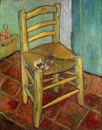 stillleben-gemaelde - Vincents Stuhl, 1888 - Van Gogh, Vincent