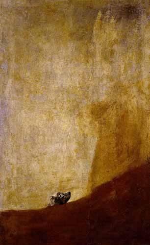 tiermalereien - Perro semihundido - Goya y Lucientes, Francisco de