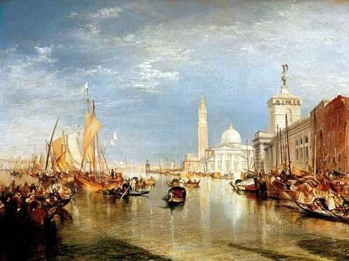 landschaften-gemaelde - Dogana y San Giorgio Maggiore en Venecia - Turner, Joseph M. William