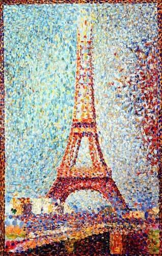 landschaften-gemaelde - La Torre Eiffel - Seurat, Georges