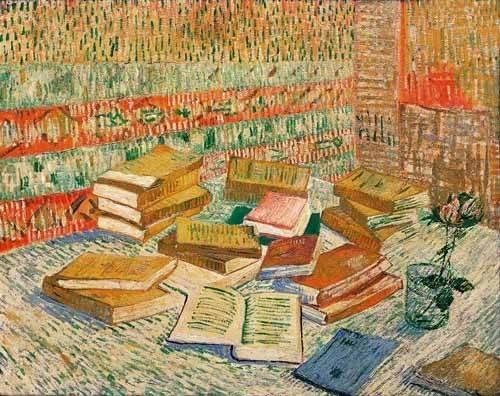 stillleben-gemaelde - Die gelben Bücher, 1887 - Van Gogh, Vincent