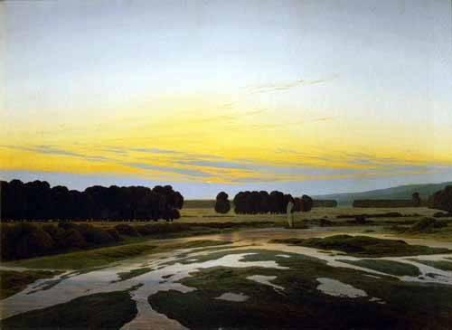 landschaften-gemaelde - Das große Gehege bei Dresden - Friedrich, Caspar David