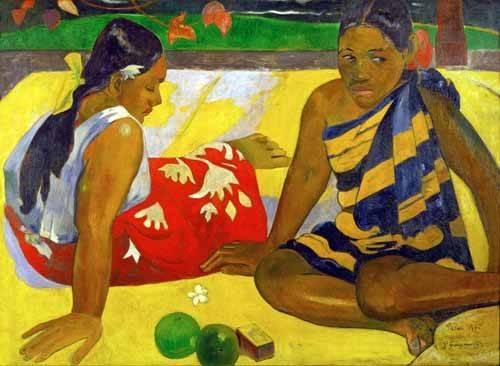 portraetgemaelde - Two women from Tahiti (Oil on canvas) (1892) - Gauguin, Paul