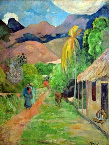 landschaften-gemaelde - Path In Papeete, Rue du Tahiti - Gauguin, Paul