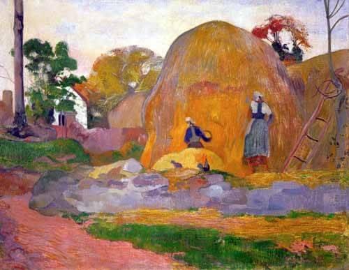 landschaften-gemaelde - The yellow haystack, 1889 - Gauguin, Paul