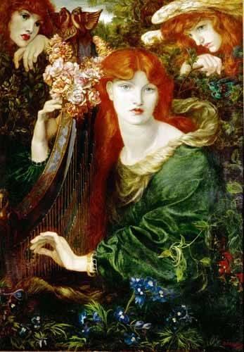 portraetgemaelde - Ghirlandata - Rossetti, Dante Gabriel
