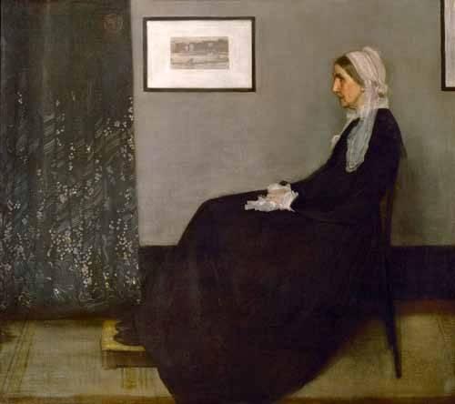 portraetgemaelde - The painter's mother Anna Mathilda McNeill (1804-1881). - Whistler, James Abbot McNeill