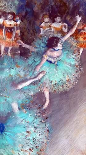portraetgemaelde - Danseur vert - Degas, Edgar