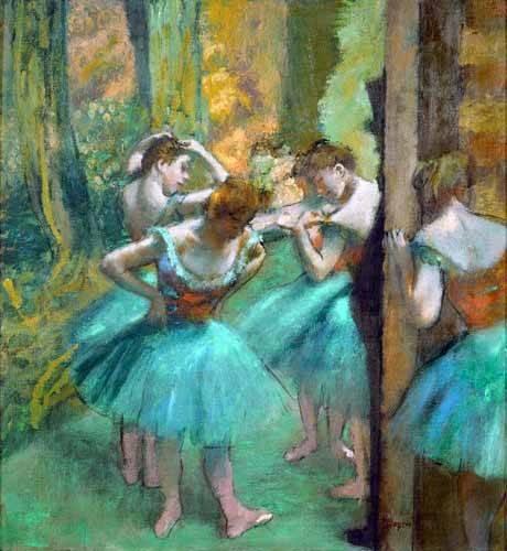 portraetgemaelde - Danseurs roses et verts, 1890 - Degas, Edgar