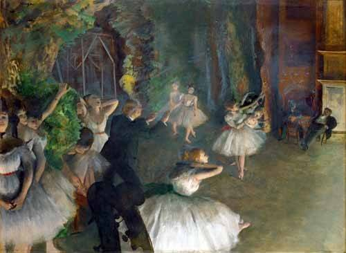portraetgemaelde - Répétition d'un ballet sur scène, 1873-74 - Degas, Edgar