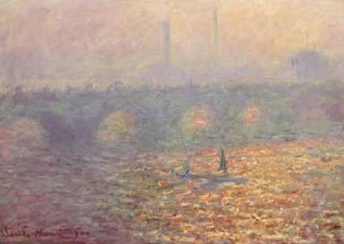 landschaften-gemaelde - Le Pont de Waterloo, 1900 - Monet, Claude