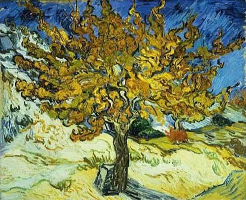 landschaften-gemaelde - Mûrier, 1889 - Van Gogh, Vincent