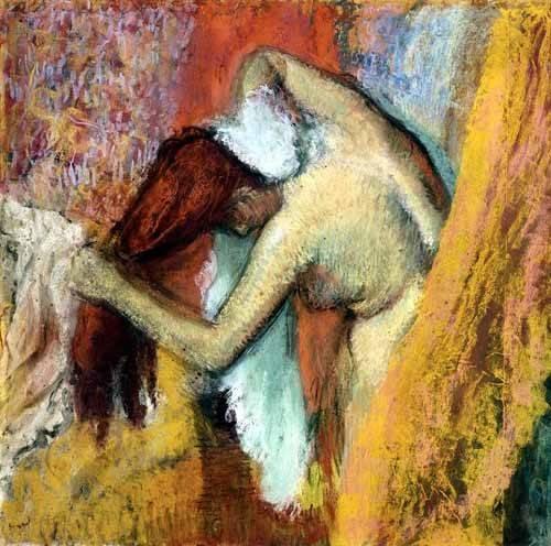 kuenstlerische-aktbilder - Femme à laver, 1894 - Degas, Edgar