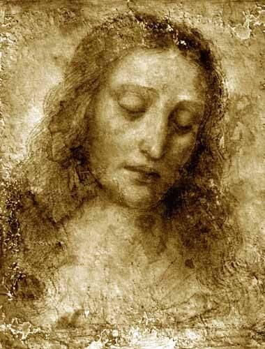 religioese-gemaelde - La Cara De Cristo - Vinci, Leonardo da