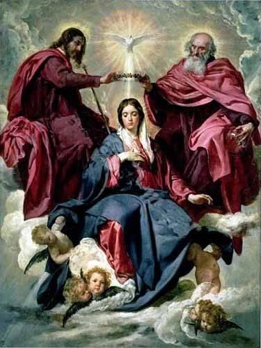 religioese-gemaelde - Coronacion de la Virgen - Velazquez, Diego de Silva