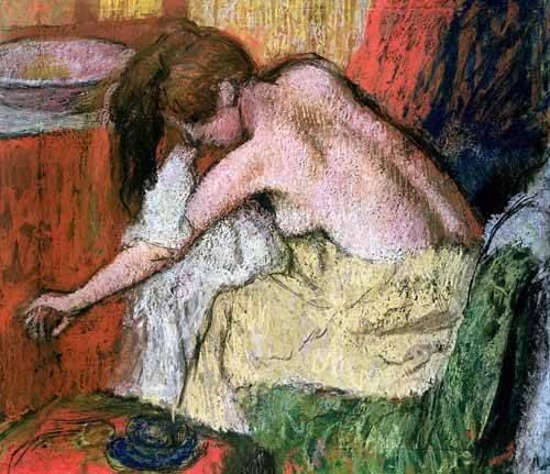 kuenstlerische-aktbilder - Femme se séchant, 1888 - Degas, Edgar
