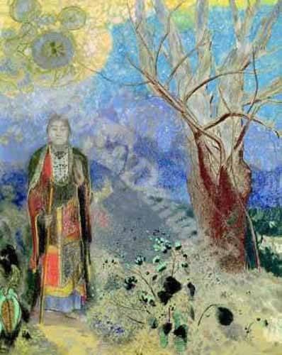 orientalische-gemaelde - The Buddha (Buda) - Redon, Odilon