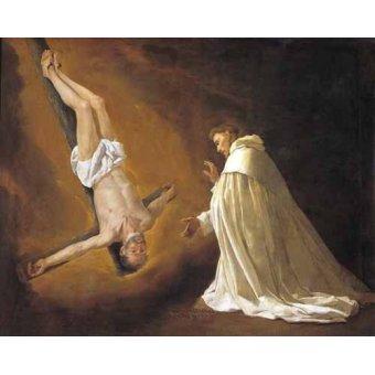 Religiöse Gemälde - Aparicion de San Pedro Apostol a San pedro Nolasco - Zurbaran, Francisco de