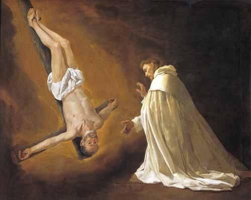 religioese-gemaelde - Aparicion de San Pedro Apostol a San pedro Nolasco - Zurbaran, Francisco de