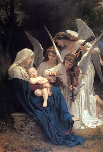 religioese-gemaelde - Song of the Angels - Bouguereau, William