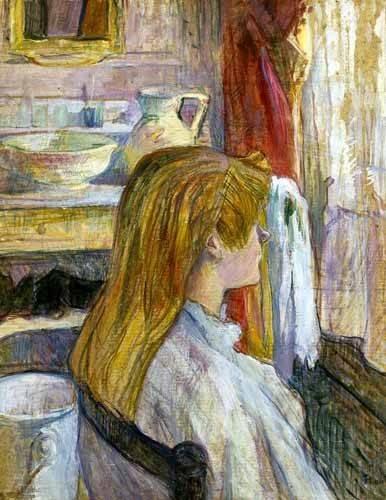 portraetgemaelde - Femme à la fenêtre - Toulouse-Lautrec, Henri de
