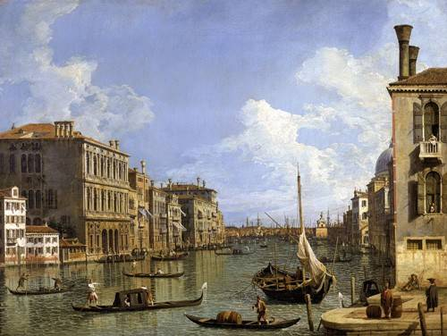 seelandschaft - Veduta del canal grande - Canaletto, Giovanni A. Canal