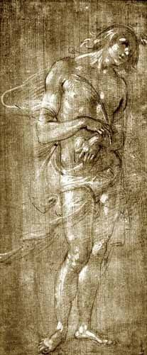 alte-karten-und-zeichnungen - Figura masculina - Botticelli, Alessandro
