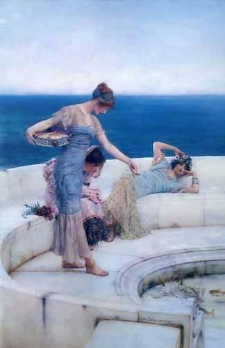 bilder-fuer-ein-esszimmer - Silver Favorites, 1903 - Alma-Tadema, Lawrence