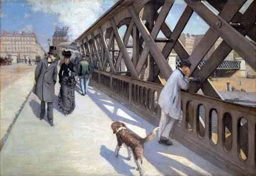 landschaften-gemaelde - Le Pont De L Europe, Paris, 1876 - Caillebotte, Gustave