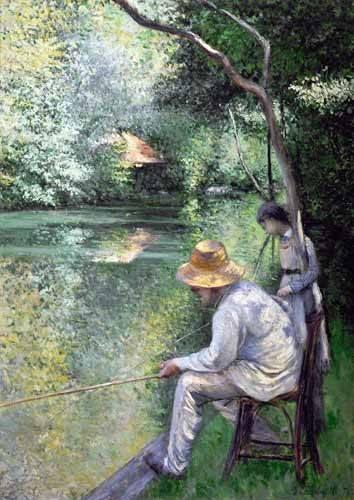 landschaften-gemaelde - Peche a la ligne - Angling, 1878 - Caillebotte, Gustave