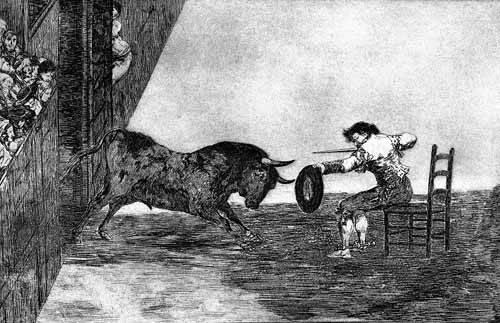 alte-karten-und-zeichnungen - Tauromaquia Num 18 - Temeridad de Martincho - Goya y Lucientes, Francisco de