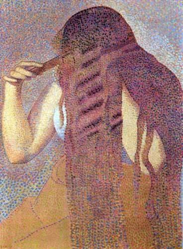 portraetgemaelde - Les cheveux, 1892 - Cross, Henri Edmond