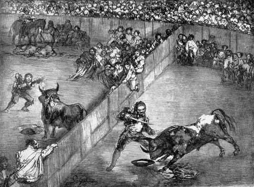 alte-karten-und-zeichnungen - Plaza partida - Goya y Lucientes, Francisco de