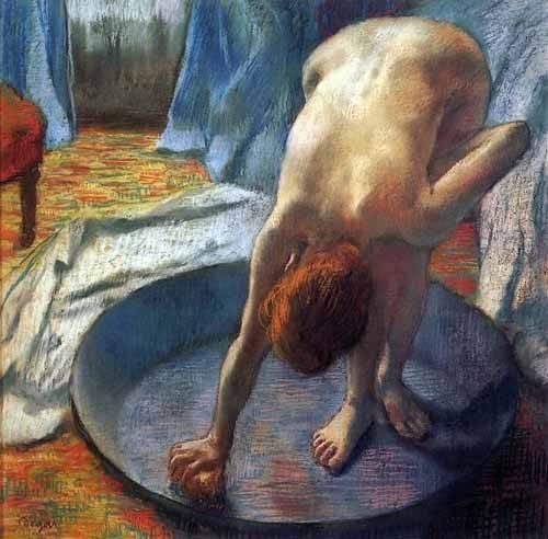 kuenstlerische-aktbilder - La baignoire - Degas, Edgar