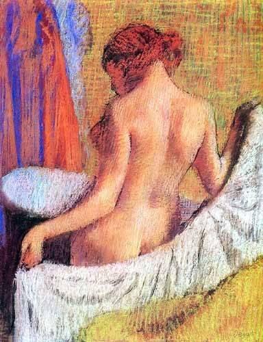 kuenstlerische-aktbilder - Après le bain femme avec une serviette - Degas, Edgar