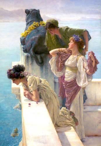 portraetgemaelde - Ein Zeichen des Vantage, 1895 - Alma-Tadema, Lawrence