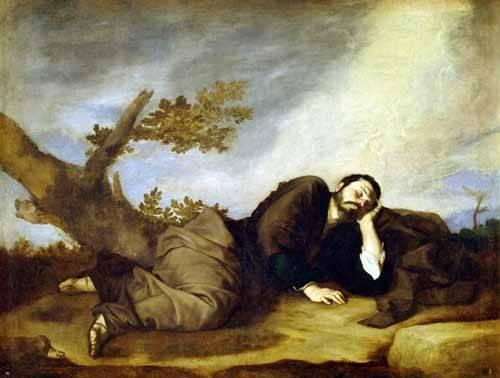 religioese-gemaelde - El Sueño De Jacob - Ribera, Jose de