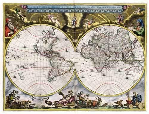 alte-karten-und-zeichnungen - Nova et Accuratissima Terrarum Orbis Tabula (J_Blaeu, 1664) - Anciennes cartes