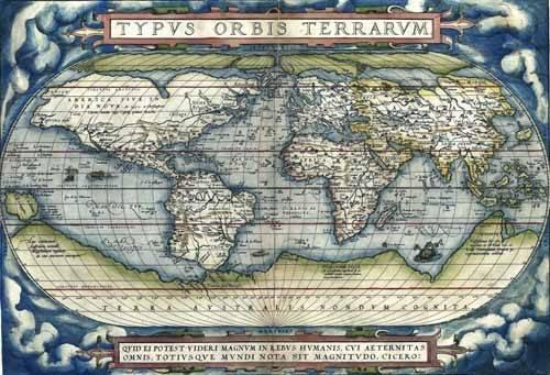 alte-karten-und-zeichnungen - Ortelius World Map, 1570 - Anciennes cartes