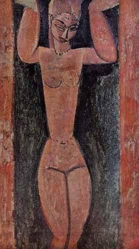 bilder-fuer-ein-esszimmer - Cariátide-2 - Modigliani, Amedeo