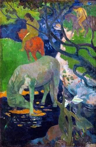 landschaften-gemaelde - Cheval Blanc, 1898 - Gauguin, Paul