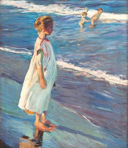 portraetgemaelde - Petite fille sur la plage - Sorolla, Joaquin