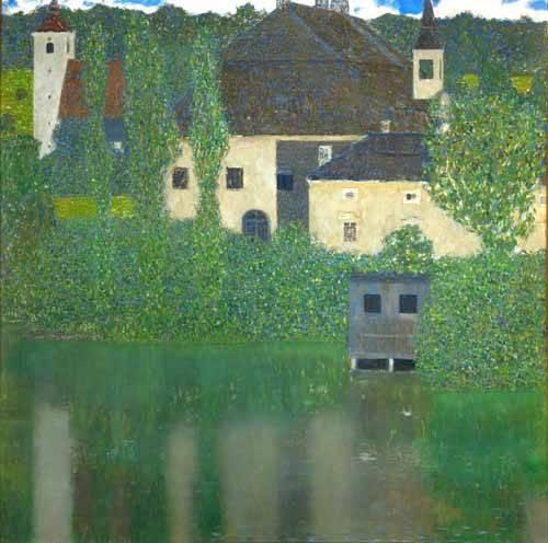 landschaften-gemaelde - Schloß Kammer am Attersee I - Klimt, Gustav