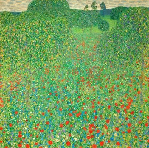 landschaften-gemaelde - Mohnfeld, 1907 - Klimt, Gustav