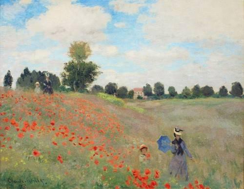 landschaften-gemaelde - Mohnblumen, 1873 - Monet, Claude