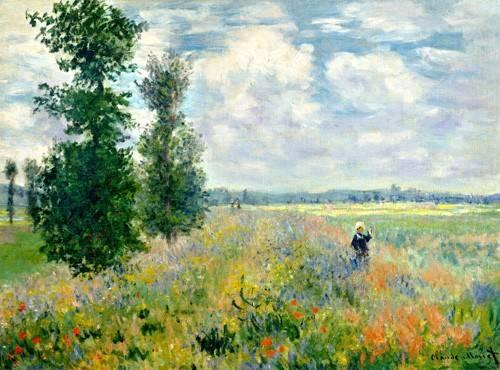 landschaften-gemaelde - Le champ de coquelicot - Monet, Claude